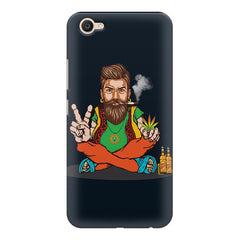 Beard guy smoking sitting design Vivo V5 printed back cover
