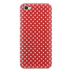 Cute hearts all over the cover design    Vivo Y67 hard plastic printed back cover