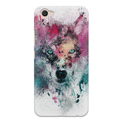 Splashed colours Wolf Design Vivo V5 Plus hard plastic printed back cover