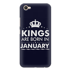 Kings are born in January design    Vivo V5 Plus hard plastic printed back cover
