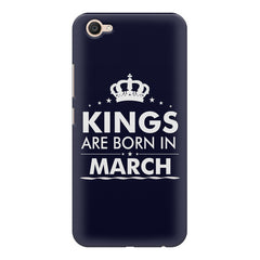 Kings are born in March design    Vivo V5 Plus hard plastic printed back cover