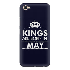 Kings are born in May design    Vivo V5 Plus hard plastic printed back cover