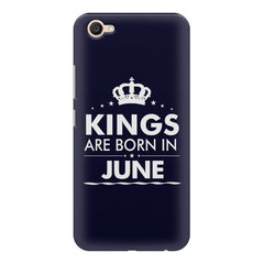 Kings are born in June design    Vivo V5 Plus hard plastic printed back cover