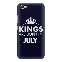 Kings are born in July design    Vivo V5 Plus hard plastic printed back cover