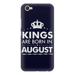 Kings are born in August design    Vivo V5 Plus hard plastic printed back cover