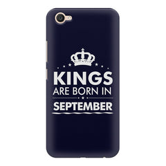Kings are born in September design    Vivo V5 Plus hard plastic printed back cover