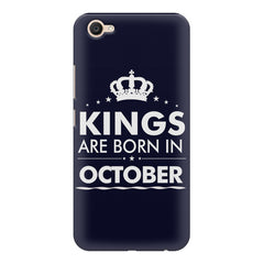 Kings are born in October design    Vivo V5 Plus hard plastic printed back cover