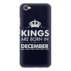 Kings are born in December design    Vivo V5 Plus hard plastic printed back cover