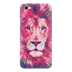 Zoomed pixel look of Lion design Vivo Y71 hard plastic printed back cover.