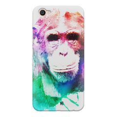 Colourful Monkey portrait Vivo Y71 hard plastic printed back cover.