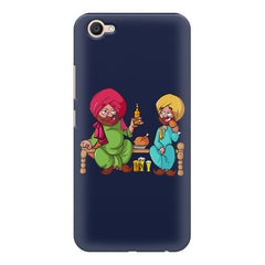 Punjabi sardars with chicken and beer avatar Vivo Y71 hard plastic printed back cover.