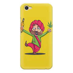 Sardar dancing with Beer and Marijuana  Vivo Y66 hard plastic printed back cover