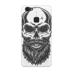 Skull with the beard  design,  Vivo V7  printed back cover