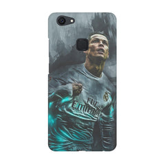 Oil painted ronaldo  design,  Vivo V7  printed back cover