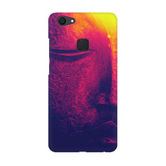 Half red face sculpture  Vivo V7  printed back cover