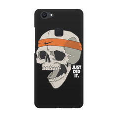 Skull Funny Just Did It !  design,  Vivo V7  printed back cover