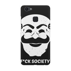 Fuck society design Vivo V7  printed back cover
