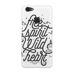 I am a free spirit design Vivo V7  printed back cover