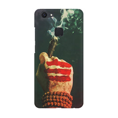 Smoke weed (chillam) design Vivo V7  printed back cover