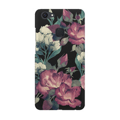 Abstract colorful flower design Vivo V7  printed back cover