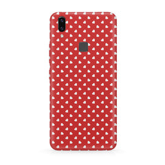 Cute hearts all over the cover design hard plastic printed back cover/case Moto One Power(P30 Note) hard plastic all side printed back cover.