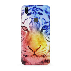 Colourful Tiger Design Moto One Power(P30 Note) hard plastic all side printed back cover.