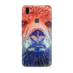 Zoomed Bear Design  Vivo Y83 Pro hard plastic all side printed back cover.