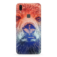 Zoomed Bear Design  Vivo X21 hard plastic printed back cover