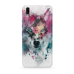 Splashed colours Wolf Design Moto One Power(P30 Note) hard plastic all side printed back cover.
