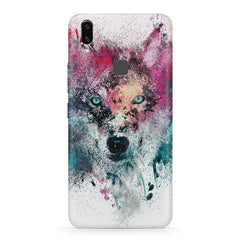 Splashed colours Wolf Design Vivo X21 hard plastic printed back cover