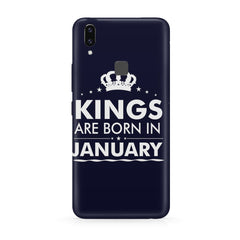 Kings are born in January design all side printed hard back cover by Motivate box Vivo Y83 Pro hard plastic all side printed back cover.