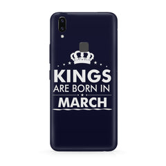 Kings are born in March design all side printed hard back cover by Motivate box Vivo Y83 Pro hard plastic all side printed back cover.
