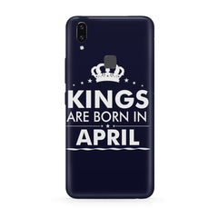 Kings are born in April design all side printed hard back cover by Motivate box Vivo Y83 Pro hard plastic all side printed back cover.