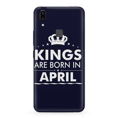 Kings are born in April design    Vivo X21 hard plastic printed back cover