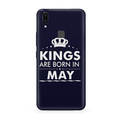 Kings are born in May design all side printed hard back cover by Motivate box Vivo Y83 Pro hard plastic all side printed back cover.
