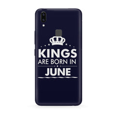 Kings are born in June design all side printed hard back cover by Motivate box Vivo Y83 Pro hard plastic all side printed back cover.