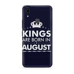 Kings are born in August design all side printed hard back cover by Motivate box Vivo Y83 Pro hard plastic all side printed back cover.