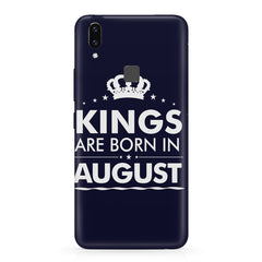 Kings are born in August design    Vivo X21 hard plastic printed back cover