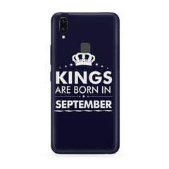 Kings are born in September design all side printed hard back cover by Motivate box Vivo Y83 Pro hard plastic all side printed back cover.