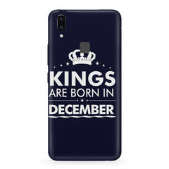 Kings are born in December design    Vivo X21 hard plastic printed back cover