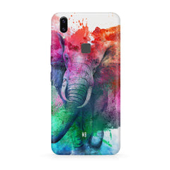 colourful portrait of Elephant Vivo Y83 Pro hard plastic all side printed back cover.