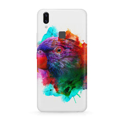 Colourful parrot design Moto One Power(P30 Note) hard plastic all side printed back cover.