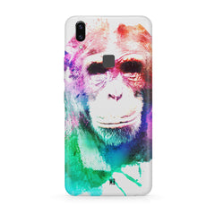 Colourful Monkey portrait Moto One Power(P30 Note) hard plastic all side printed back cover.