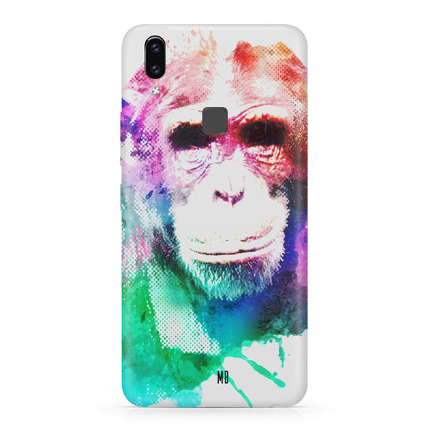 Colourful Monkey portrait Vivo X21 hard plastic printed back cover