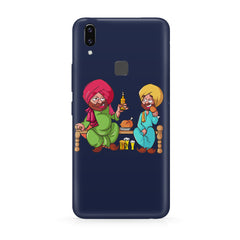 Punjabi sardars with chicken and beer avatar Vivo Y83 Pro hard plastic all side printed back cover.
