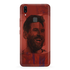 Messi jersey 10 blended design Vivo X21 hard plastic printed back cover