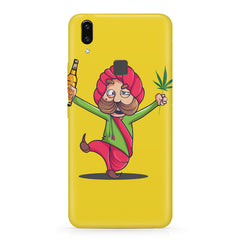 Sardar dancing with Beer and Marijuana  Vivo V9 hard plastic printed back cover