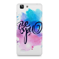 Be yourself design Vivo X5  printed back cover