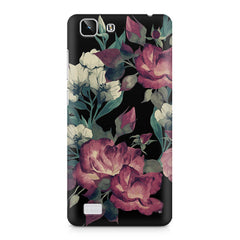 Abstract colorful flower design Vivo X5  printed back cover