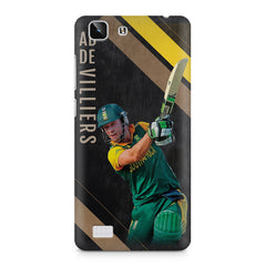 Ab De Villiers the Batting pose    Vivo X5 hard plastic printed back cover